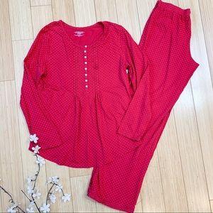 Victoria's Secret red two piece PJ Pajama set, M.